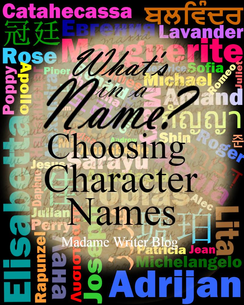What's In a Name? Choosing CharacterNames