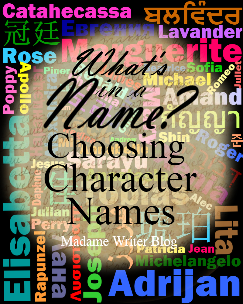 What's In a Name? Choosing Character Names