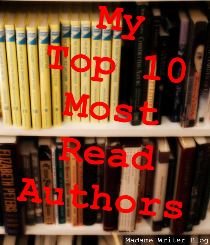 My Top 10 Most Read Authors