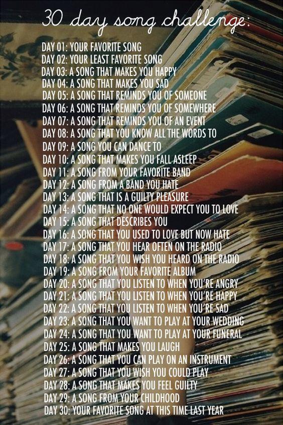 30 Question SongChallenge
