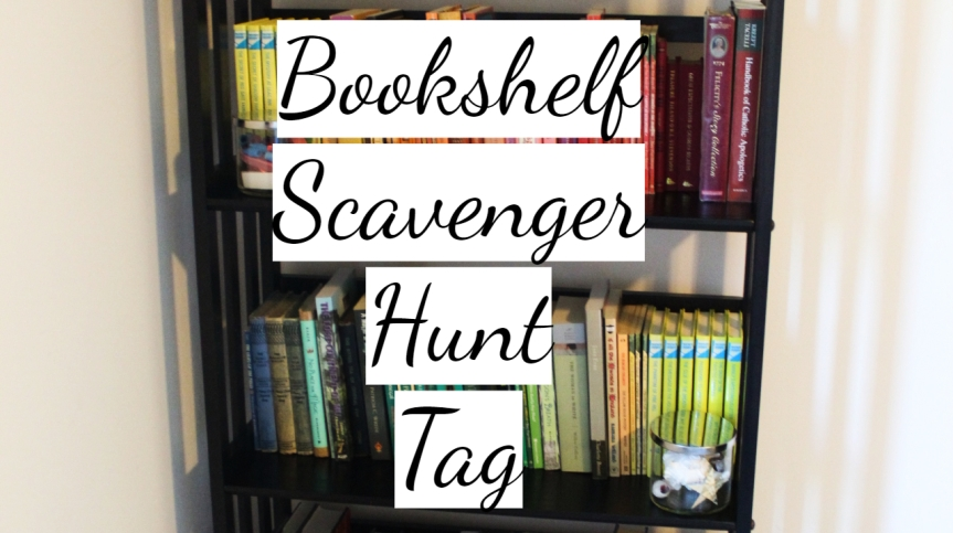 Bookshelf Scavenger Hunt Tag